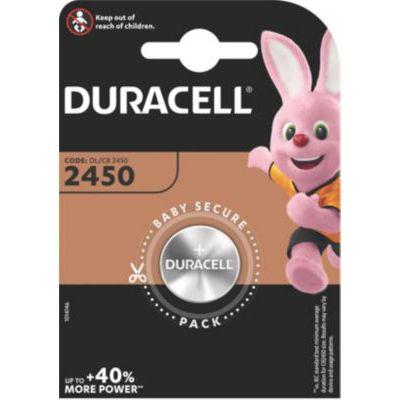 image Duracell 2450 Pile bouton lithium 3V, lot de 1, (DL2450/CR2450) pour porte-clés, balances et dispositifs portables et médicaux