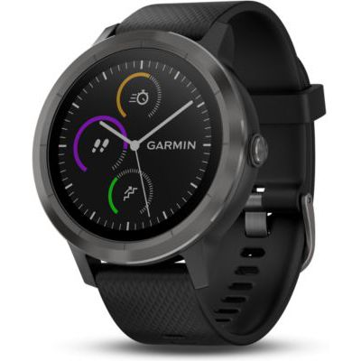 image Garmin - Vivoactive 3 - Montre Connectée de Sport avec GPS et Cardio Poignet (Ecran : 1,6 pouces) - Gris avec Bracelet Noir