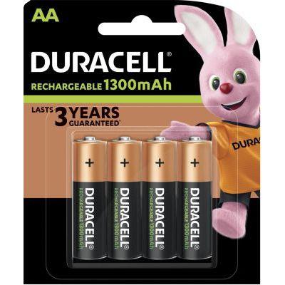 image Duracell HR6 / DC1500 Pack de 4 Piles AA 1300 mAh