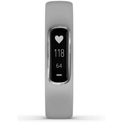 image Garmin vívosmart 4 - Bracelet d'activité ultra-fin avec oxymètre de pouls et cardio poignet - Gris - Taille S/M