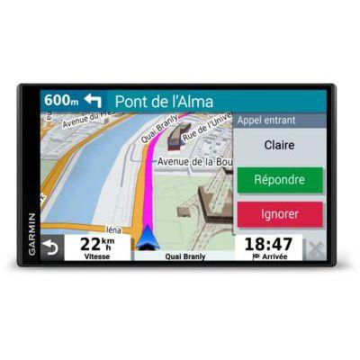 image Garmin - DriveSmart 55 - GPS Auto – 5,5 pouces - Cartes Europe 46 pays – Cartes, Trafic et Zones de Danger gratuits - Grand écran lumineux - cartographie 3D - Appels mains libres