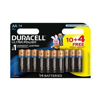 image Piles Duracell ULTRA POWER AAX10+4