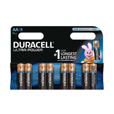 image Duracell Ultra, lot de 8 piles alcalines Type AA 1,5 Volts LR6 MX1500