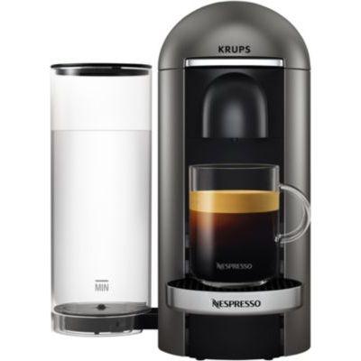 image Nespresso Krups Machine Expresso Vertuo Plus Titane, Machine à Café, Cafetière Expresso, 5 Tailles de Tasses, 1,8L YY2778FD