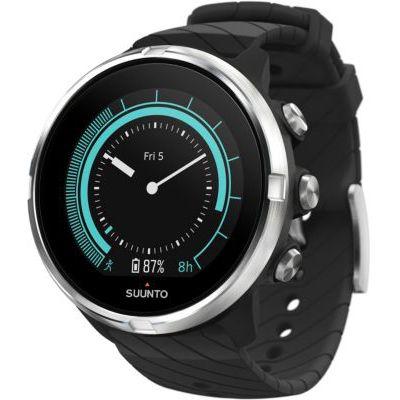 image produit Suunto 9, Montre multisport GPS (Unisexe) + Batterie avec 25 heures d'autonomie, Etanche jusqu'à 100m, Mesure de la fréquence cardiaque, Affichage couleur, Verre minéral, Noir - livrable en France
