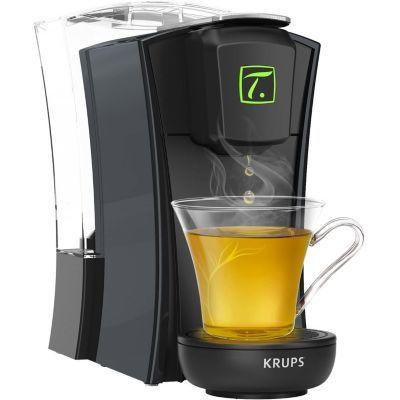 image Krups Spécial T Machine à Thé Mini T Théière Electrique à Capsules Noir YY4121FD