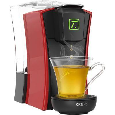 image Krups Spécial T Machine à Thé Mini T Théière Electrique à Capsules Rouge YY4120FD