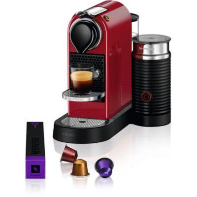 image Krups Nespresso Citiz & Milk Machine à Café Automatique Espresso à dosette Pot à Lait Rouge YY4116FD