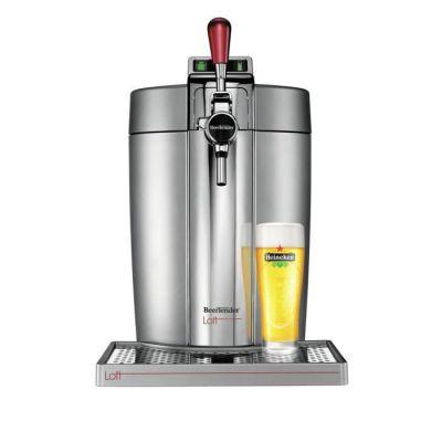 image Krups Beertender Loft Edition Silver/Chrome Machine à bière, Tireuse à bière, Pompe à bière, Machine à bière pression, Fût 5 L, Indicateur température, Indicateur volume restant VB700E00