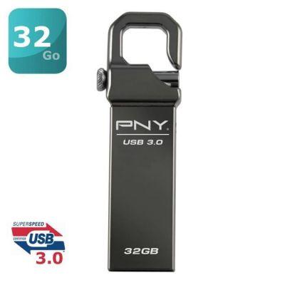 image PNY Clé USB 32 Go Hook 3.0 Metal Gris
