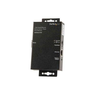 image STARTECH Serveur de périphériques série à 1 port RS232 vers IP Ethernet avec Power over Ethernet (PoE)