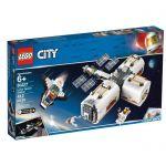 LEGO®-City La station spatiale lunaire Enfant de 6 Ans et Plus, Jouet de Construction, 412 Pièces 60227