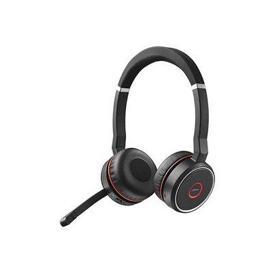 image Jabra Evolve 75 Micro Casque Bluetooth et USB avec Réduction Active de Bruit (ANC) & Base de Charge pour Jabra Evolve 75