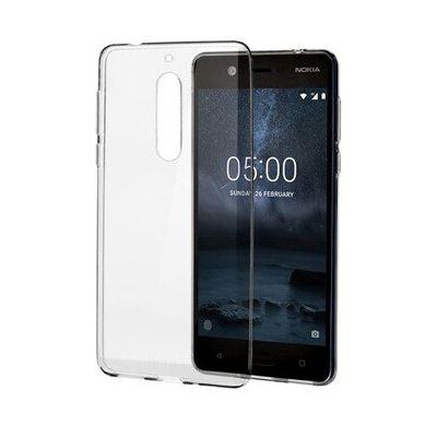 image Nokia Fin Cristal Clair Coque en Silicone 5