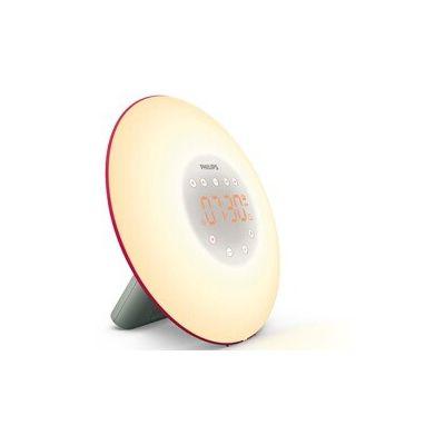 image Philips Eveil Lumière - HF3506/30 - Simulateur d'aube avec lampe LED (10 réglages) et interface tactile - Rouge