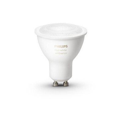 image Philips Hue Ampoule connectée White Ambiance Blanc chaud / Blanc froid GU10 - Fonctionne avec Alexa