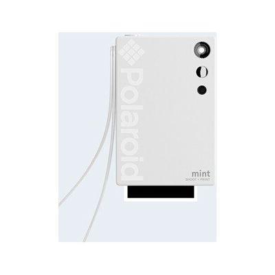 image Polaroid Mint Appareil photo numérique à impression instantanée (Blanc), impression sur papier photo collé sur support Zink 2x3