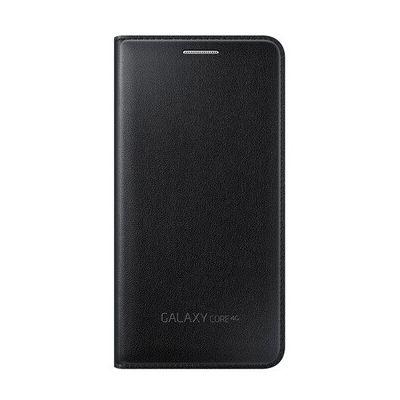 image Coque smartphone Samsung ETUI FLIP WALLET NOIR POUR GALAXY CORE 4G