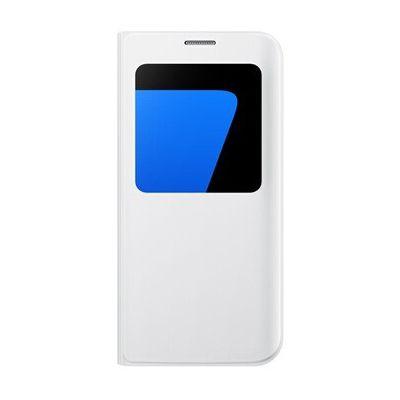 image Coque smartphone Samsung ETUI S VIEW COVER BLANC POUR SAMSUNG GALAXY S7 EDGE