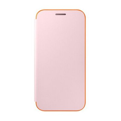 image Samsung Coque Folio à Rabat pour Samsung Galaxy A3 2017 - Rose/Orange Fluo