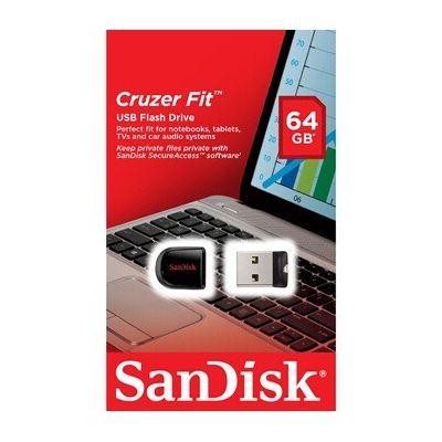 image SanDisk Cruzer Fit SDCZ33-064G-B35 USB Flash Drive, 64 Go &  - SDSQUAR-016G-GN6MA - Carte Mémoire MicroSDHC Ultra 16GB avec Vitesse de Lecture Allant jusqu'à 98 Mo/S, Classe 10 (Nouvelle Version)