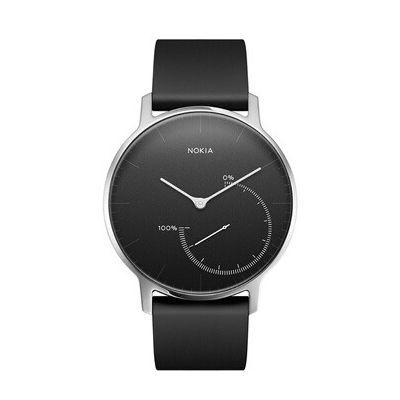 image Withings Nokia Steel-Montre Connectée-Suivi D'activité et de Sommeil Mixte, Noir, Medium