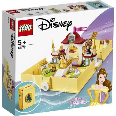 image produit LEGO Disney Princess, Les aventures de Belle dans un livre de contes, Ensemble de palais de la Belle et de la Bête, Jouet de voyage, 121 pièces, 43177 - livrable en France