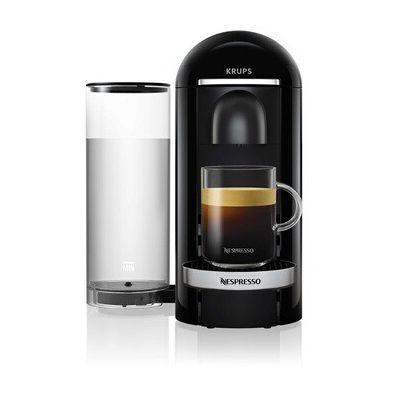 image Nespresso Vertuo - Machine à café à capsules pour espresso ou café long - de 40 ml à 410 ml - Noir - Krups YY2779FD