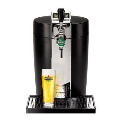 image Krups BEERTENDER Machine à Bière Tireuse à Bière Pompe à Pière Machine à Pière Pression Fut 5L Indicateur Température Indicateur Volume Restant Noir et Chrome VB700800