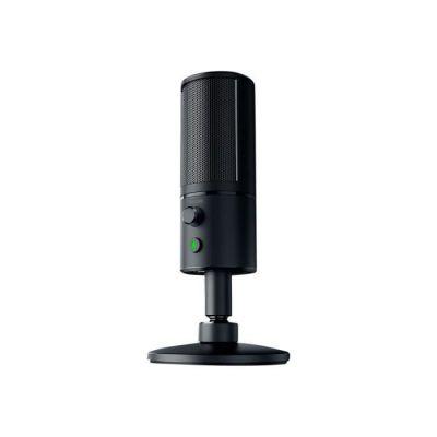 image Razer Seiren X - Microphone USB de Diffusion Electrostatique Microphone Streaming avec Mode de Captation Ultra Précis & Résistant aux Chocs