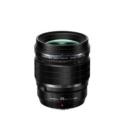 image produit Objectif Olympus M.Zuiko Digital ED 45mm F1.2 PRO, focale fixe lumineuse, compatible tout appareil Micro 4/3 (modèles Olympus OM-D & PEN, Panasonic série G), noir
