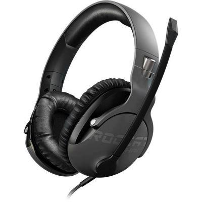 image Roccat Khan Pro – Casque Gaming son Hi-Res, dédié aux compétitions eSport (jack stereo 3,5mm, poids plume 230g, compatible multiplateforme : PC, Mac, PS4, Xbox One, Nintendo Switch, et mobiles), gris