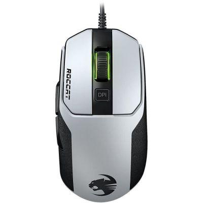 image ROCCAT Kain 102 AIMO Souris Gaming RGB (capteur Pro-Optic R8 8.500 dpi, poids très léger de 89g, technologie Titan Click) blanche