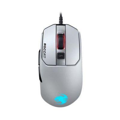 image ROCCAT Kain 122 AIMO Souris Gaming RGB (nouveau capteur optique Owl-Eye 16.000 dpi, poids très léger de 89g, technologie Titan Click) blanche
