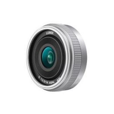 image Panasonic Lumix 14mm F2.5 | Objectif à focale fixe H-H014AE-S (Grand angle 14mm, Grande ouverture F2.5, Pancake, equiv. 35mm : 28mm) Silver – Compatible monture Micro 4/3 Panasonic & Olympus