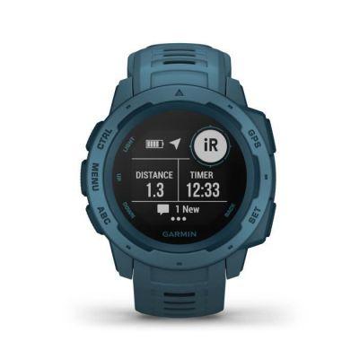 image Garmin Instinct - Montre GPS Multi-Fonctions Outdoor - Bleu Lac