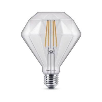 image Philips ampoule LED Standard Filament Calotte Argentée E27 55W Equivalent 48W Claire Blanc chaud