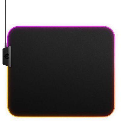 image SteelSeries QcK Prism Cloth - Tapis de souris de jeu en tissu - Éclairage RVB 2 zones - Taille M