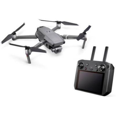 """image DJI Mavic 2 Pro Drone + Radiocommande Smart Controller - Drone avec Caméra Hasselblad L1D-20c, Vidéos 4K HDR 10 bits, Capteur CMOS 1"""" 20 MP - Radiocommande avec Écran 5,5 Ultra-Brillant 1080p - Gris"""