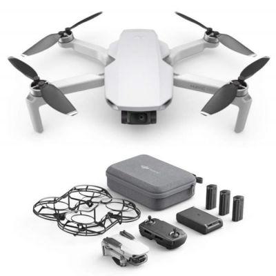 image DJI Mavic Mini Combo - Drone Ultra-Léger et Ultra-Transportable, Autonomie de 30 minutes, distance de Transmission de 2 km, cardan 3 Axes, 12 MP, Vidéo HD 2.7K (EU Plug)