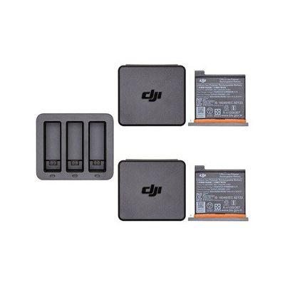 image DJI Osmo Action Part 6 Charging Kit - Accessoires de Recharge pour Osmo Action Cam, 1 Hub de Charge, 2 Batteries de Rechange, 1 Boitier de Rangement, Smart Charging