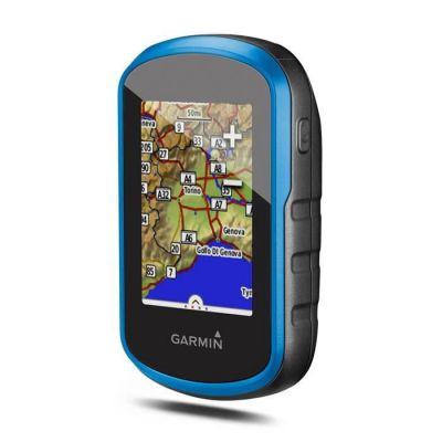 image Garmin - eTrex Touch 25 - GPS de Randonnée avec écran Tactile - Cartes TopoActive Europe de l'Ouest Préchargées - Bleu + Bumper de Protection pour GPS de Randonnées eTrex Touch - Silicone - Bleu