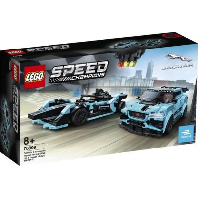 image produit LEGO Speed Champions Formule E Panasonic Jaguar voiture de course GEN2 & Jaguar I-PACE eTROPHY, Set de voiture de course, 239 pièces, 76898 - livrable en France