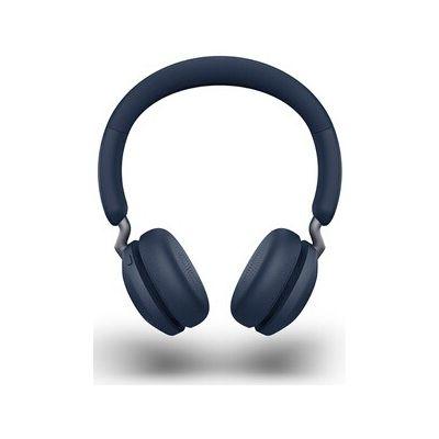 image Jabra Elite 45h Casque Sans Fil Supra-Auriculaire – Casque Compact Pliable avec une Autonomie de 50 Heures – Technologie d'Appel à 2 Microphones – Bleu Marine