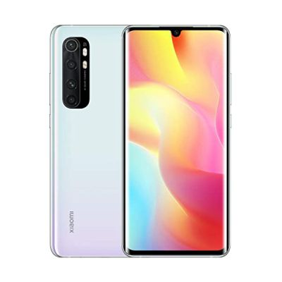 image Xiaomi Mi Note 10 Lite Smartphone 6GB 128GB Quad Caméra 6.47″ 3D Curved AMOLED Display 5260 mAh Blanc [Version Globale] Glacier White