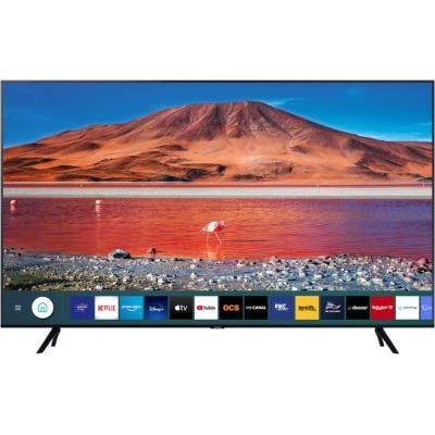 """image Samsung Crystal UHD 2020 75TU7005 Smart TV 75"""" avec résolution 4K, HDR 10+, écran Crystal, processeur 4K, Pur-Couleur, Son Intelligent, Fonction One Remote Control et Assistance vocale Compatible"""