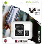 image produit Kingston Canvas Select Plus Carte MIcro SD SDCS2/256GB Class 10 + Adaptateur inclus - livrable en France