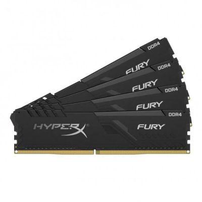 image HyperX FURY Black HX434C16FB3K4/32 Mémoire 32Go Kit*(4x8Go)3466MHz DDR4 CL16 DIMM 1Rx8