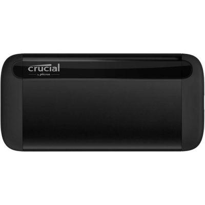 image Crucial CT1000X8SSD9 X8 1To Portable SSD – Vitesses atteignant 1050Mo/s – USB 3.2 – Lecteur d'état solide externe, USB-C, USB-A