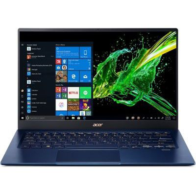 "image produit Acer Swift 5 SF514-54T-79W0 Ordinateur portable 14""FHD Bleu (Core i7, 8 Go de RAM, SSD 512Go, Graphics plus Iris, Windows 10) - Clavier AZERTY (français)"